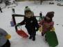 Zajíčci na sněhu